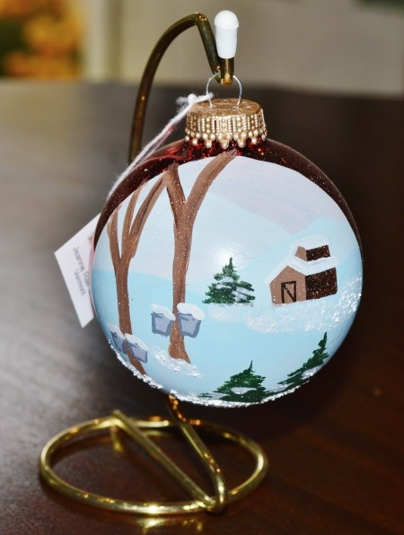 Sugaring in Vermont Glass Ornament