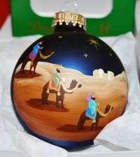 Three Wise Men Glass Ornament