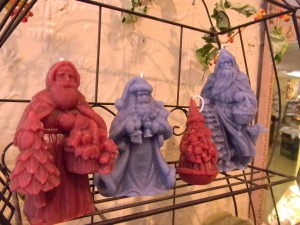 Beeswax figural candles