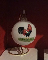 Rooster Glass Ornament