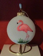 Flamingo Glass Ornament