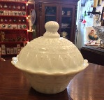 Milk Glass Covered Bowl