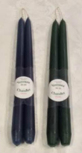 "Hand Dipped 12"" Taper Candles - Pair"