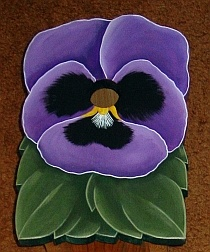 Pansy Flower Birdhouse
