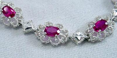 925 Sterling Thailand Filigree Link Bracelet