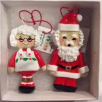 Santa & Mrs Clause dough ornaments