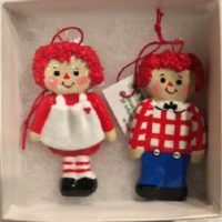 Raggedy Ann & Andy Dough Ornaments