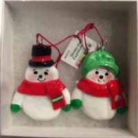 Mr & Mrs Snowman dough ornaments