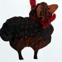 Sheep Pottery Ornament
