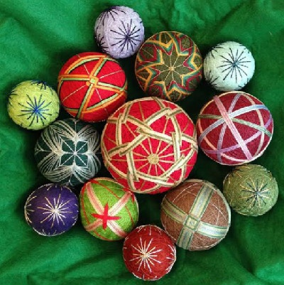 temari ornaments