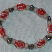 Hearts Galore Glass Bead Bracelet