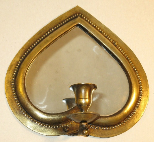 Mirrored Brass Sconce