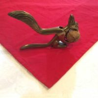 Solid Cast Brass Squirrel Nut Cracker