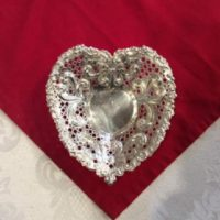 sterling silver, heart shaped, candy dish