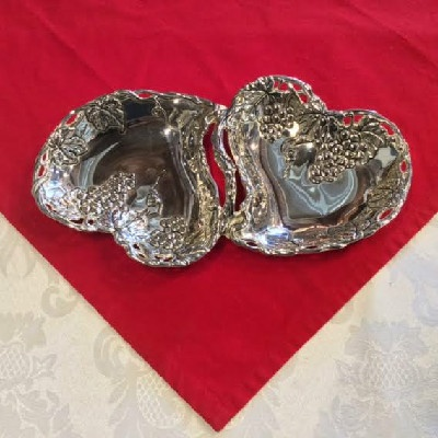 Dual Heart Candy Dish