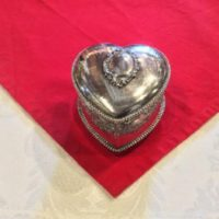 Beautiful Silk Lined - Heart Shaped - Victorian Jewelry Box