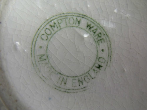 Compton Ware Pottery Vase - English Hallmarked Sterling Rim
