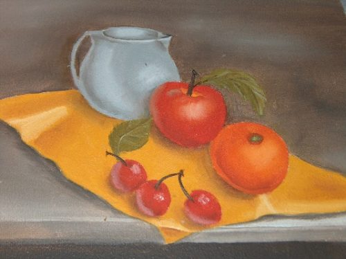 Fruit Still Life - Oil On Canvas
