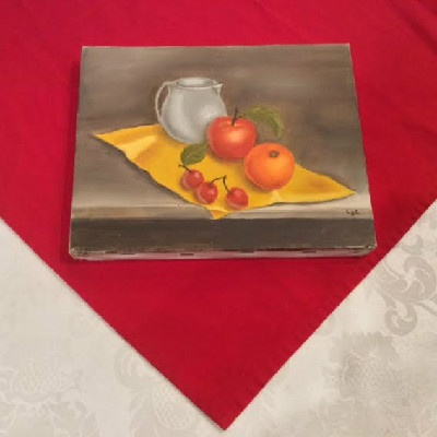 Fruit Still Life - Oil On Canvas