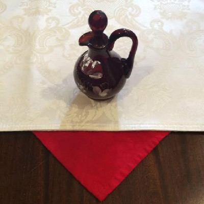 Bohemian Ruby Cut To Clear Cruet