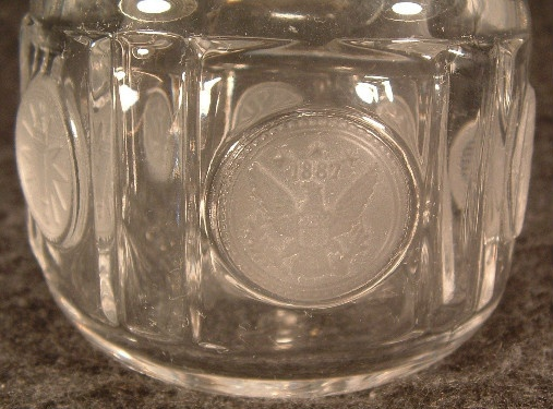 Fostoria 1887 Frosted Coin Cruet
