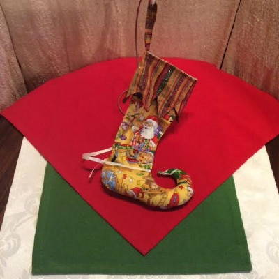 Elf's Shoe Christmas Stocking
