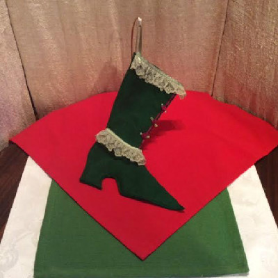 High Top Shoe - Victorian Style Christmas Stocking #1