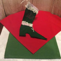 High Top Shoe - Victorian Style Christmas Stocking #3