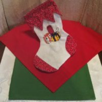 Embroidered Packages Christmas Stocking