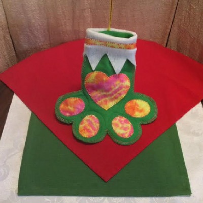 Dog – Paw Christmas Stocking #2