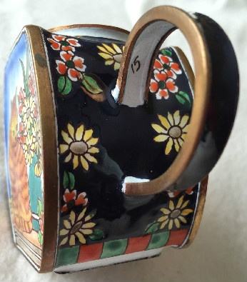 Kelvin Chen Style – Enamel Copper Cloisonne Tea Pot – Orange Tabby w/ Flowers - Signed