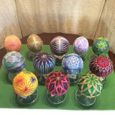 A Collection Of Small Temari Balls — Japanese Thread Balls