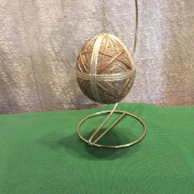 Temari Egg - Gold Egg - Large Japanese Thread Egg