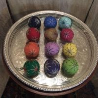 A Collection Of Small Temari Balls -- Japanese Thread Balls