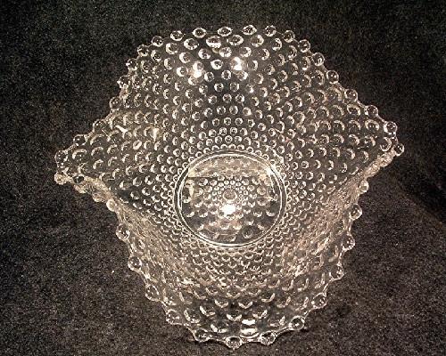 Hobnail Pattern Large Crimped Bowl - EAPG Vintage Hobbs