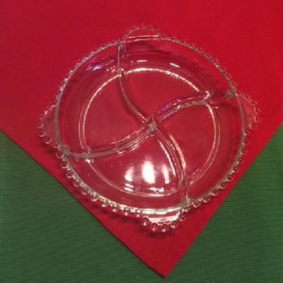 Candlewick Pattern - 4 Part Divided Relish Dish - Imperial Glass Company