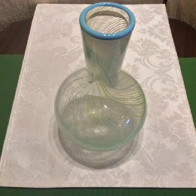 Dansk - Blue & Green Spiral / Swirl Design Vase