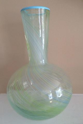 Dansk Blue Green Spiral Swirl Design Vase Fayrehale Farm