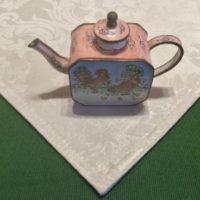 Kelvin Chen Style – Enamel Copper Cloisonne Tea Pot – Rooster / Hen & Chicks - The Whole Family!