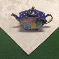 Kelvin Chen – Enamel Copper Cloisonne Tea Pot – Rooster Crowing At Sunrise - Signed