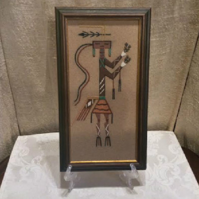 1968 - Navajo Sand Painting - From Harold Tregent's Comfort Store - Estes Park, Colorado - Vintage #1