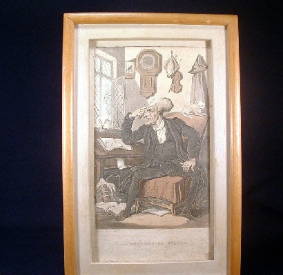 "Early 1800's - Thomas Rowlandson - Hand Coloured Engraving Titled - ""The Rev.d Dr. Syntax"""