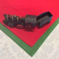 Antique Cast Iron #50 Locomotive w/ Coal Car & Coupling