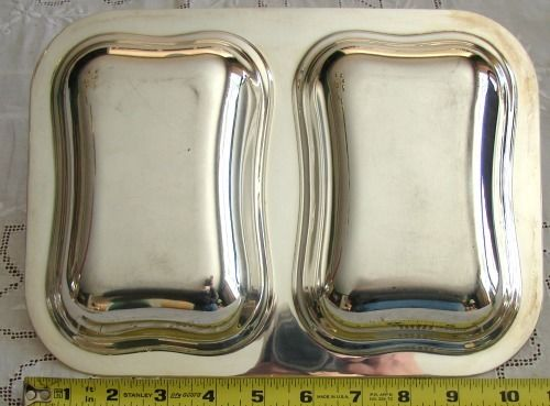 Double Entree / Vegetable Serving Dish - Silver Plate