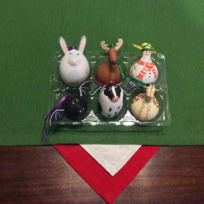 Rabbit - Reindeer - Snowman w/ Green Hat - Bat - Cow - Giraffe