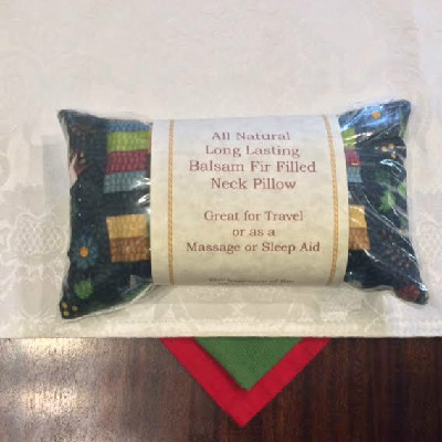 "Neck Pillow-Amish Floral -4"" x 8""Balsam Pillow"