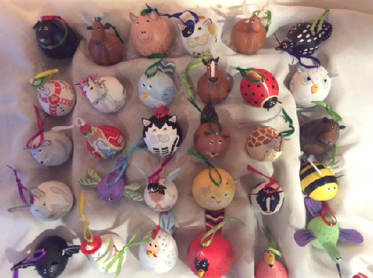Gourd Ornaments - Individually Made In Vermont By A Vermont Artisan