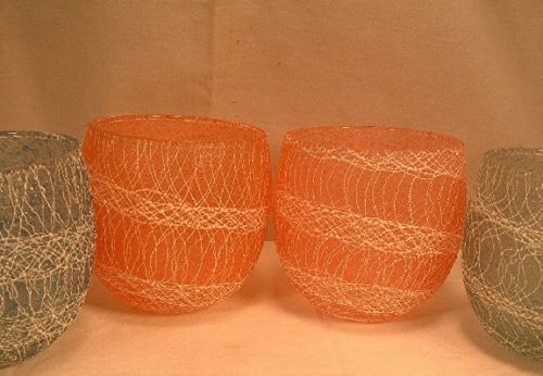 Spaghetti String Roly-Poly Tumblers - Mid 20th Century - Color Craft