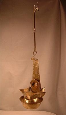 Brass Crusie Lamp - Betty Lamp - 19th century
