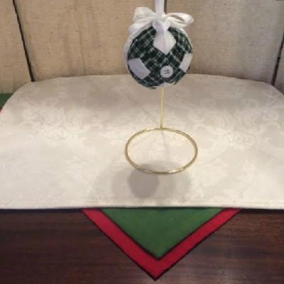 M#3 – Green & White w/ White Button – $16.50